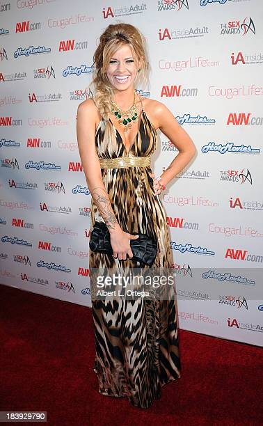 Adult film sctress Jessa Rhodes arrives for The 1st Annual Sex Awards 2013 held at Avalon on October 9 2013 in Hollywood California