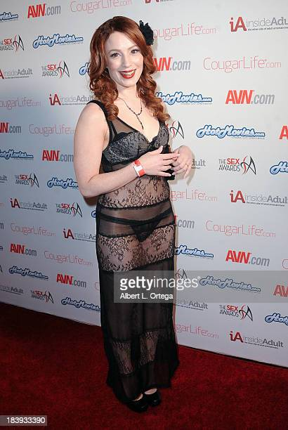 Adult film sctress Little Red Bunny arrives for The 1st Annual Sex Awards 2013 held at Avalon on October 9 2013 in Hollywood California