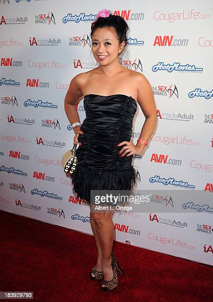 Adult film sctress Lucky Starr arrives for The 1st Annual Sex Awards 2013 held at Avalon on October 9 2013 in Hollywood California