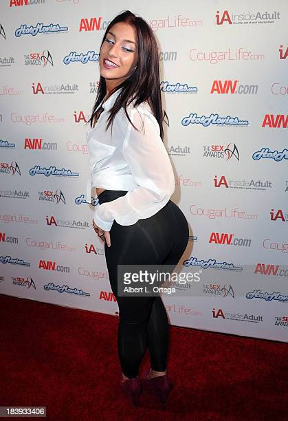 Adult film sctress Mischa Brooks arrives for The 1st Annual Sex Awards 2013 held at Avalon on October 9 2013 in Hollywood California