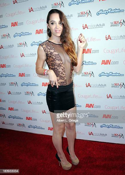 Adult film sctress Nikki Next arrives for The 1st Annual Sex Awards 2013 held at Avalon on October 9 2013 in Hollywood California