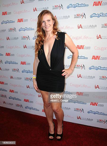 Adult film sctress Nina Biaggi arrives for The 1st Annual Sex Awards 2013 held at Avalon on October 9 2013 in Hollywood California