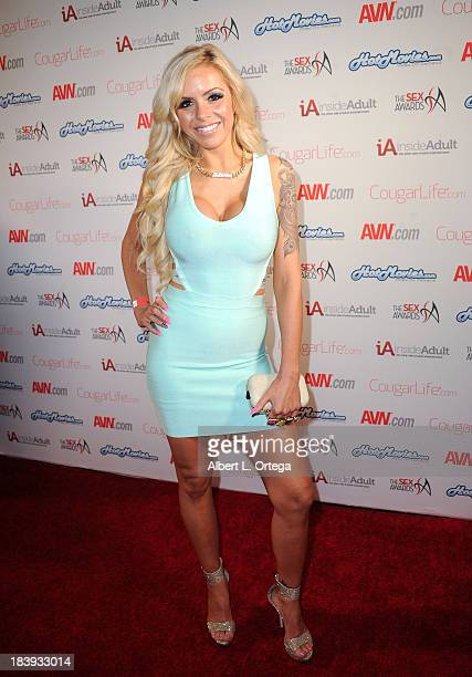 Adult film sctress Nina Elle arrives for The 1st Annual Sex Awards 2013 held at Avalon on October 9 2013 in Hollywood California