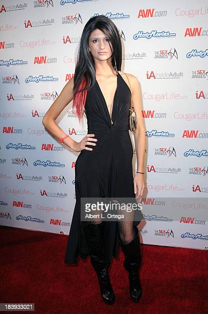 Adult film sctress Presley Dawson arrives for The 1st Annual Sex Awards 2013 held at Avalon on October 9 2013 in Hollywood California