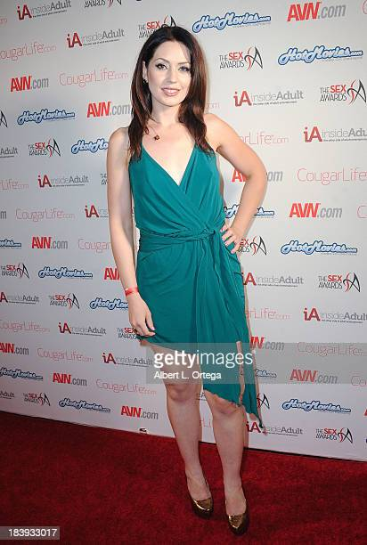 Adult film sctress Sarah Shevon arrives for The 1st Annual Sex Awards 2013 held at Avalon on October 9 2013 in Hollywood California