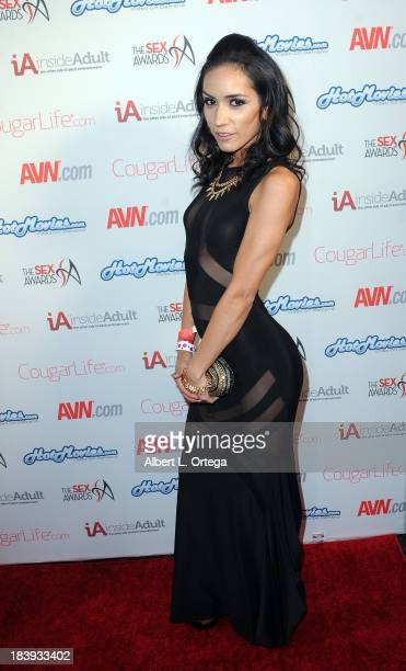 Adult film sctress Tia Cyros arrives for The 1st Annual Sex Awards 2013 held at Avalon on October 9 2013 in Hollywood California