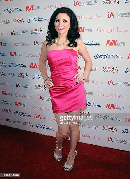 Adult film sctress Veruca James arrives for The 1st Annual Sex Awards 2013 held at Avalon on October 9 2013 in Hollywood California