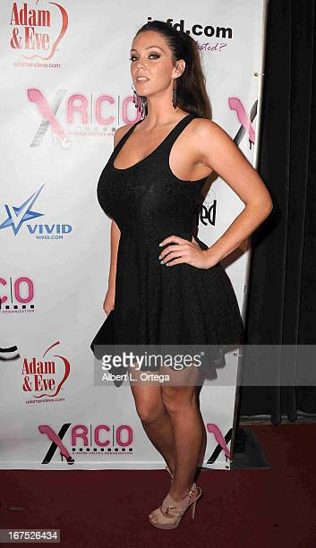Adult film star Alison Tyler arrives for the 29th Annual XRCO Awards held at SupperClub Los Angeles on April 25 2013 in Hollywood California