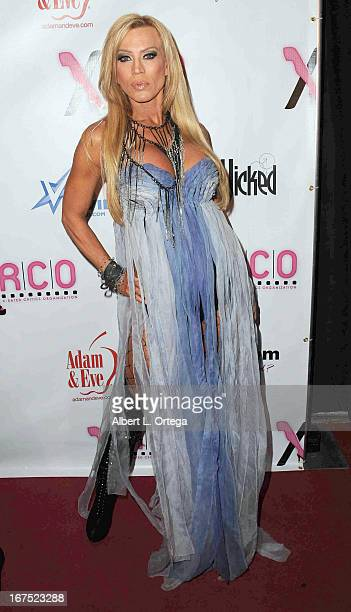 Adult film star Amber Lynn arrives for the 29th Annual XRCO Awards held at SupperClub Los Angeles on April 25 2013 in Hollywood California