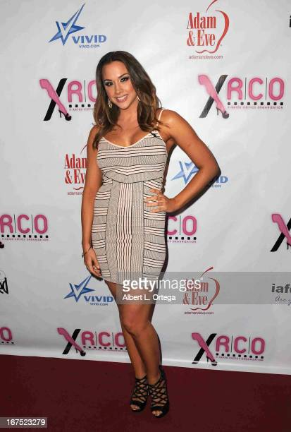 Adult film star Chanel Preston arrives for the 29th Annual XRCO Awards held at SupperClub Los Angeles on April 25 2013 in Hollywood California