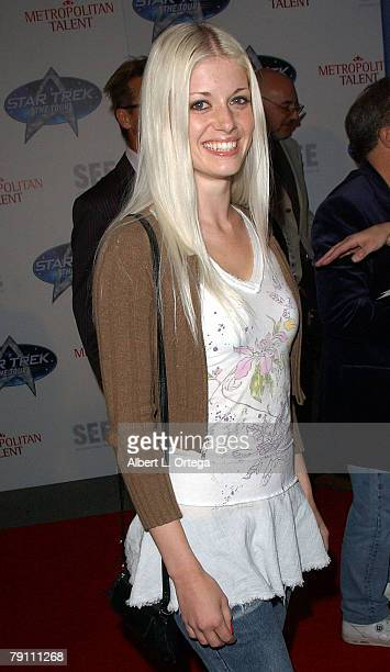 Adult Film Star Charlotte Stokely arrives at Star Trek The Tour Opening Night Gala at the Queen Mary Dome on January 17 2008 in Long Beach California