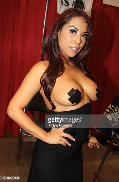Adult film star Christine Mendoza attends the Adultcon Adult Entertainment Convention at Los Angeles Convention Center on September 12 2010 in Los...