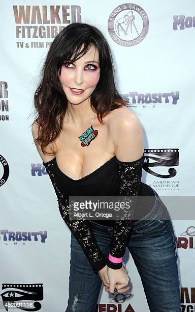 Adult film star Diana Prince arrives for the 2014 Etheria Film Night held at American Cinematheque's Egyptian Theatre on July 12 2014 in Hollywood...
