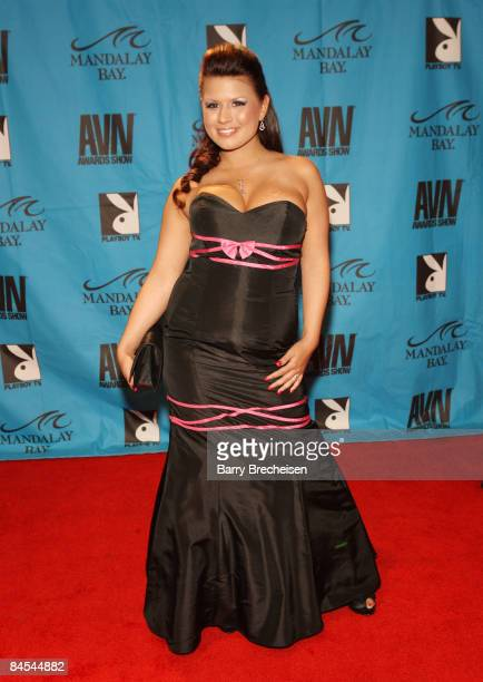 Adult Film Star Eva Angelina arrives on the red carpet at the 2009 AVN Awards Show at the Sands Expo Convention Center on January 10 2009 in Las...