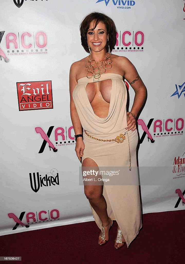 Adult film star Eva Naughty arrives for the 29th Annual XRCO Awards held at SupperClub Los Angeles on April 25, 2013 in Hollywood, California.