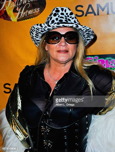 Adult film star Ginger Lynn attends Halloween Hotness Costume Party held at Couture on October 25, 2014 in Hollywood, California.