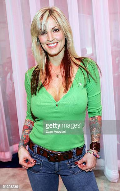 Adult film star Janine participates the 2005 AVN Adult Entertainment Expo at the Sands Convention Center in the Venetian Hotel on January 8 2005 in...