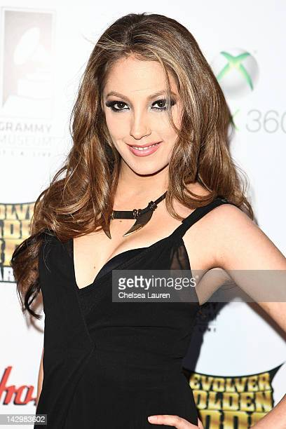 Adult film star Jenna Haze arrives at the 4th annual Revolver Golden Gods awards at Club Nokia on April 11 2012 in Los Angeles California