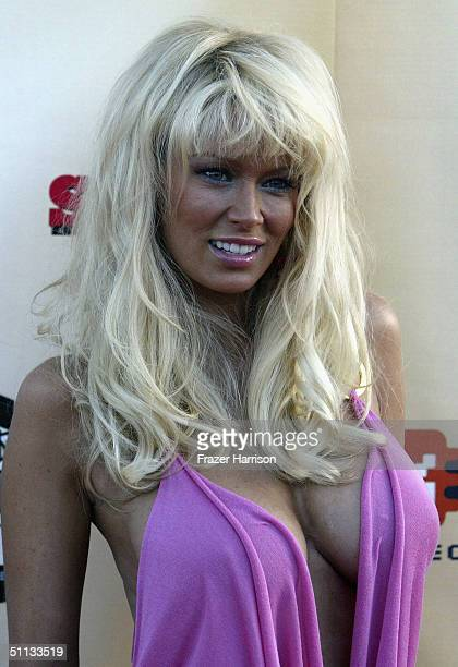 Adult film star Jenna Jameson arrives at GPhoria The Award Show 4 Gamers held on July 31 2004 at the Shrine Auditorium in Los Angeles California