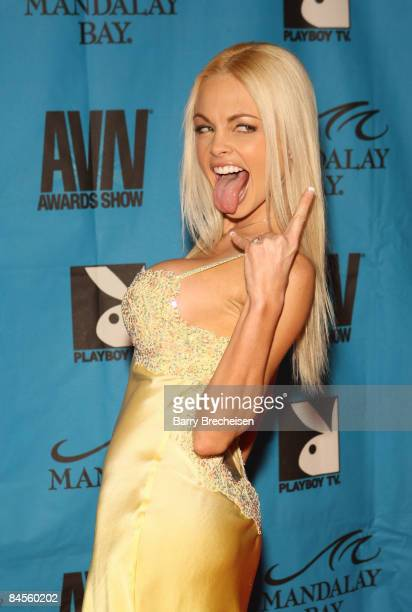Adult Film Star Jesse Jane arrives on the red carpet at the 2009 AVN Awards Show at the Sands Expo Convention Center on January 10 2009 in Las Vegas...