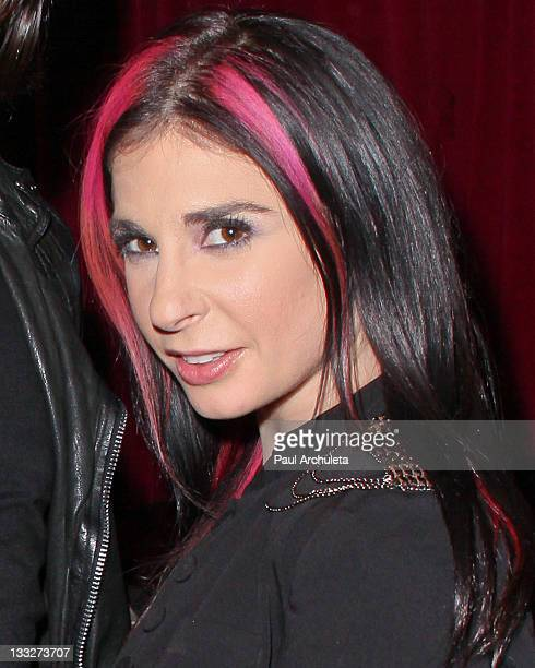Adult Film Star Joanna Angel attends the Gym Class Heroes album release party for The Papercut Chronicles II at Angels Kings on November 17 2011 in...