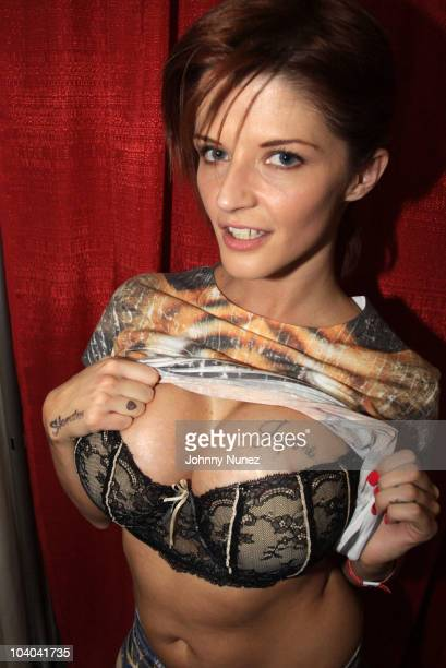 Adult film star Joslyn James attends the Adultcon Adult Entertainment Convention at Los Angeles Convention Center on September 12 2010 in Los Angeles...