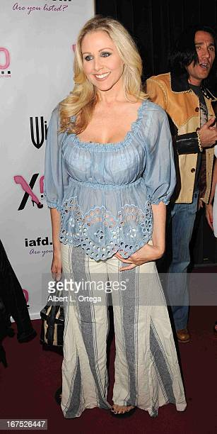Adult film star Julia Ann arrives for the 29th Annual XRCO Awards held at SupperClub Los Angeles on April 25 2013 in Hollywood California