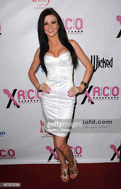Adult film star Kendall Karson arrives for the 29th Annual XRCO Awards held at SupperClub Los Angeles on April 25 2013 in Hollywood California