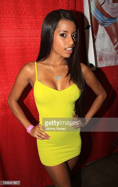 Adult film star Lupe Fuentes attends the Adultcon Adult Entertainment Convention at Los Angeles Convention Center on September 12 2010 in Los Angeles...