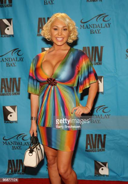 Adult Film Star Mackenzie Lee arrives on the red carpet at the 2009 AVN Awards Show at the Sands Expo Convention Center on January 10 2009 in Las...