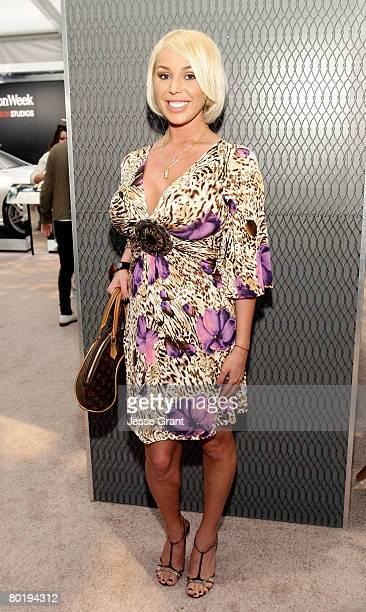 Adult film star Mary Carey attends MercedesBenz Fashion Week held at Smashbox Studios on March 10 2008 in Culver City California