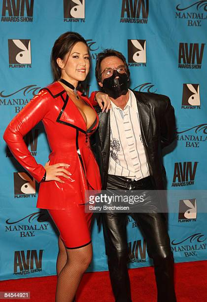 Adult Film Star Mistress Veronique and Jake malone arrive on the red carpet at the 2009 AVN Awards Show at the Sands Expo Convention Center on...
