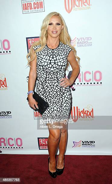 Adult film star Nikki Benz attends The BIG Annual 30th XRCO Awards hosted by Ron Jeremy held at OHM at Hollywood Highland on April 16 2014 in...