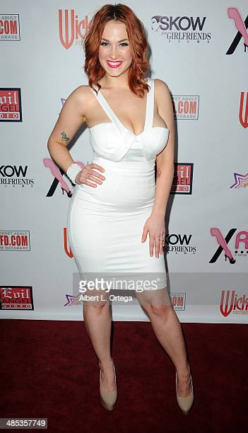 Adult film star Siri attends The BIG Annual 30th XRCO Awards hosted by Ron Jeremy held at OHM at Hollywood Highland on April 16 2014 in Hollywood...