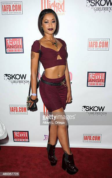 Adult film star Skin Diamond attends The BIG Annual 30th XRCO Awards hosted by Ron Jeremy held at OHM at Hollywood Highland on April 16 2014 in...
