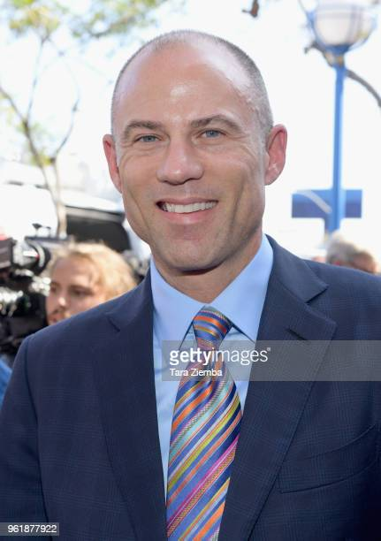 Adult film star Stormy Daniels' attorney Michael Avenatti attends a ceremony as Daniels receives a key to the city of West Hollywood at Chi Chi...