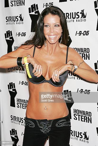 Adult film star Tabitha Stevens arrives at a luncheon to celebrate the launch of Howard Stern's new Sirius Satellite Radio show at the Hard Rock Cafe...