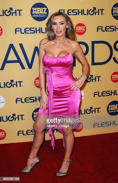 Adult film star Tanya Tate arrives for the 2013 XBIZ Awards held at the Hyatt Regency Century Plaza on January 11 2013 in Century City California