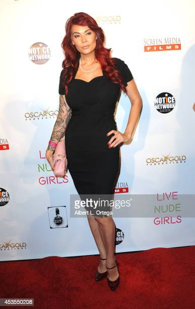 Adult film star Tera Patrick arrives for the Premiere Of Live Nude Girls held at Avalon on August 12 2014 in Hollywood California