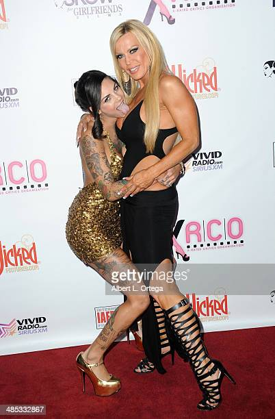 Adult film stars Bonnie Rotten and Amber Lynn attend The BIG Annual 30th XRCO Awards hosted by Ron Jeremy held at OHM at Hollywood & Highland on...