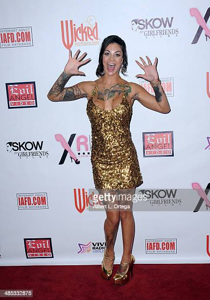 Adult film stars Bonnie Rotten attends The BIG Annual 30th XRCO Awards hosted by Ron Jeremy held at OHM at Hollywood Highland on April 16 2014 in...