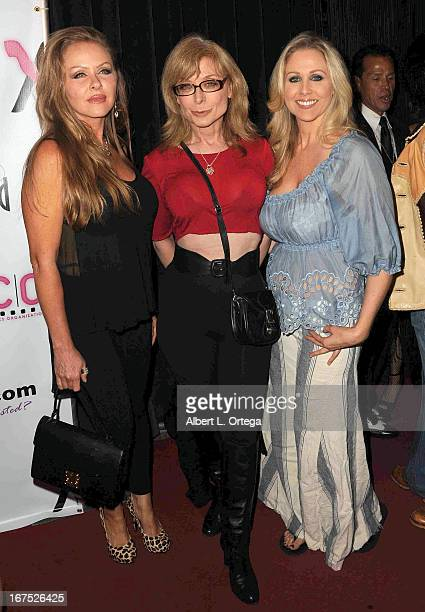 Adult film stars Dyana Lauren Nina Hartley and Julia Ann arrive for the 29th Annual XRCO Awards held at SupperClub Los Angeles on April 25 2013 in...