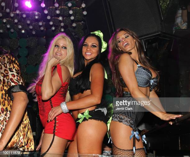 Adult Film Stars Gina Lynn, Audrey Bitoni and Madelyn Marie attend the The Lingerie Party hosted by adult entertainment stars at Greenhouse on May...