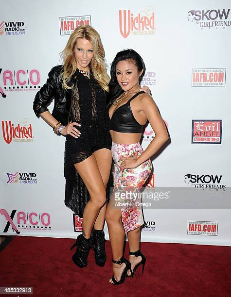 Adult film stars Jessica Drake and Keylani Lei attend The BIG Annual 30th XRCO Awards hosted by Ron Jeremy held at OHM at Hollywood Highland on April...