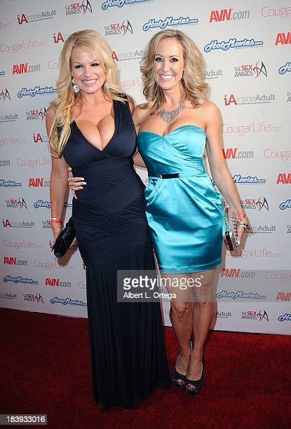Adult film stars Kelly Madison and Brandi Love arrive for The Sex Awards 2013 held at Avalon on October 9 2013 in Hollywood California
