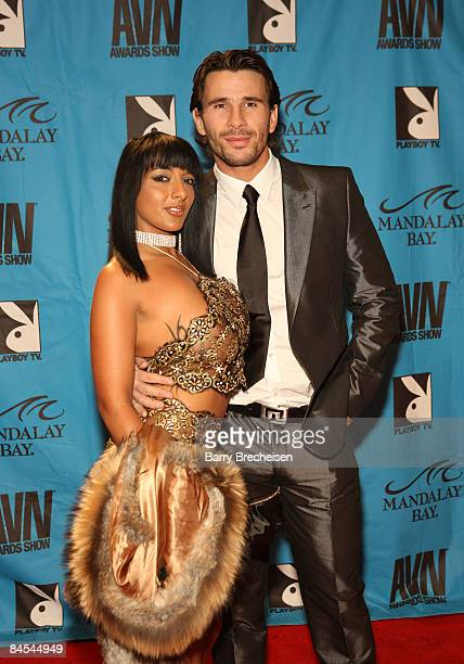 Adult Film Stars Luna Luxx and Manuel Ferrera arrive on the red carpet at the 2009 AVN Awards Show at the Sands Expo Convention Center on January 10...