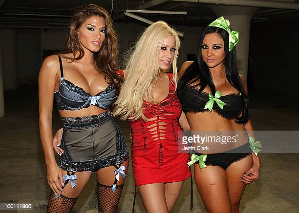 Adult Film Stars Madelyn Marie, Gina Lynn and Audrey Bitoni attend the The Lingerie Party hosted by adult entertainment stars at Greenhouse on May...