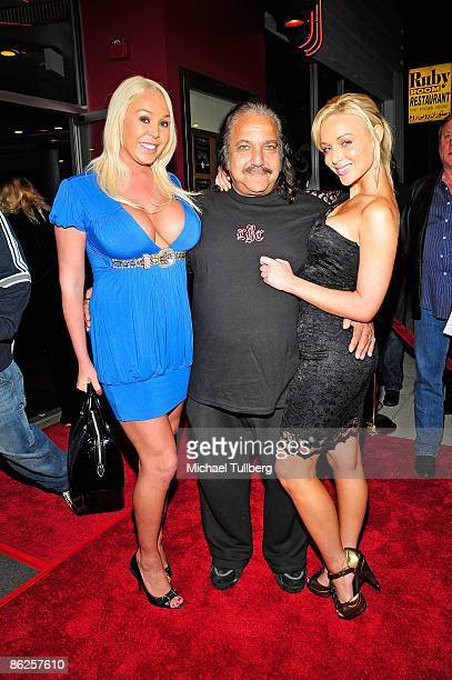 """Adult film stars Mary Carey, Ron Jeremy and Kayden Kross arrive at the premiere of Jeremy's new horror film """"One-Eyed Monster"""", held at the Fine Arts..."""