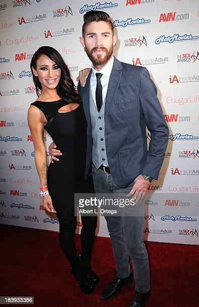 Adult film stars Sandee Westgate and Jared Grey arrive for The Sex Awards 2013 held at Avalon on October 9 2013 in Hollywood California