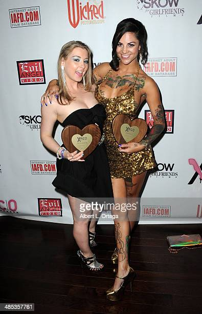 Adult film stars Sunny Lane and Bonnie Rotten honored at The BIG Annual 30th XRCO Awards hosted by Ron Jeremy held at OHM at Hollywood & Highland on...